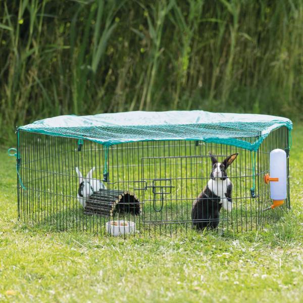 TRIXIE natura Freilaufgehege für Jungtiere mit Netz ø116x38cm
